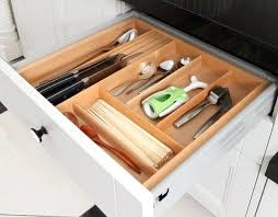 Kitchen Drawer Knife Organizer  Claredco - Kitchen cabinet drawer dividers