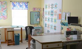 Quilting Cutting Table by Hyacinth Quilt Designs Sewing Room Tour Light And Bright Room