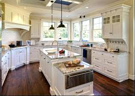 blue cottage kitchen cabinets island picture country oak likable