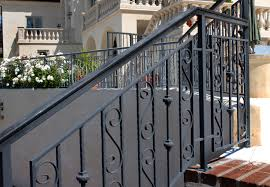stairs awesome exterior wrought iron stair railings glamorous