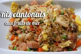 recette du riz cantonais aux fruits de mer