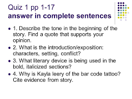 the bar code tattoo by suzanne weyn quiz 1 pp 1 17 answer in