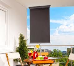 seitenschutz balkon balkon sichtschutz balkon markise balkon windschutz anthrazit grau