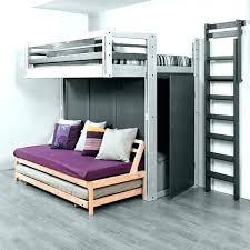 bureau sous mezzanine bureau sous lit mezzanine lit mezzanine 2 places bois massif lit