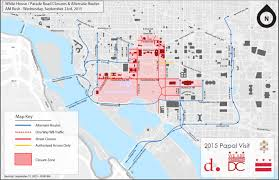 Dc Traffic Map Security Restrictions And Joint Transportation Plan For The 2015