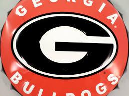 college georgia bulldogs g bottle top metal sign 19