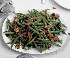 green beans with crispy pancetta mushrooms and shallots