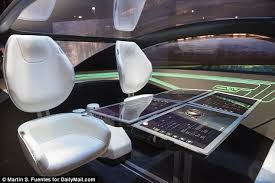 futuristic cars interior panasonic s futuristic concept for driverless cars daily mail online