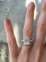 wedding band ideas pear shaped engagement rings with wedding bands engagement rings