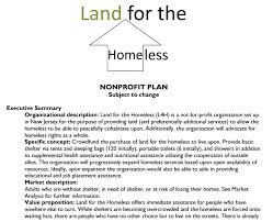 nonprofit plan land for the homeless