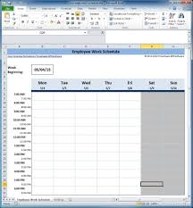 Schedule Spreadsheet Employee Scheduling Spreadsheet Free And Monthly Employee Schedule