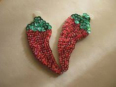 sequinned seahorse ornaments fashioned felt and sequins