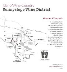 Oregon Winery Map by Idaho Wine Guide Sipping Through Sunnyslope