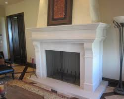 big freestanding fireplaces designs with plain white stone mantel