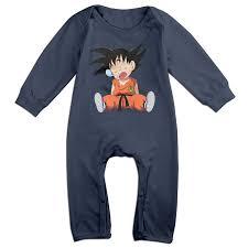 Cute Clothes For Babies Amazon Com Cartoon Dragon Ball Z Kid Goku Baby Onesie Romper