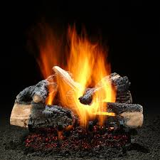 hargrove 18 inch inferno vented gas log set with e burner gas