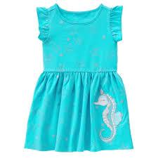 toddler aqua seahorse dress by gymboree