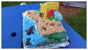 a camping beach side birthday cake mum on the brink