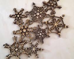 rustic snowflakes etsy