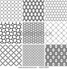 islamic patterns set seamless ornament vector stock vector
