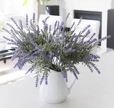 8 bundle artificial flower purple lavender bouquet