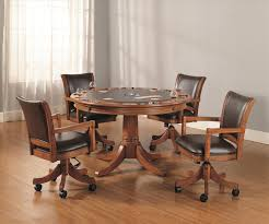 Leather Chairs For Kitchen Table Vinyl Faux Leather Solid Brown Upholstered Kitchen Table And