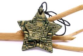 polymer clay home decor star ornament home decor year round by bobblesbycarol on zibbet
