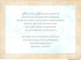 post wedding reception invitation wording wording for wedding reception invitations for post wedding