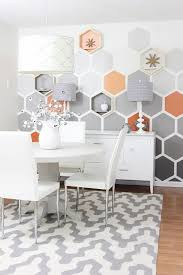 Bedroom Accent Wall With Snazzy Penny Tiles Decoist by The Honeycomb Room Before And After Geometric Hexagon Wall For
