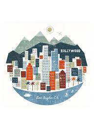 Los Angeles Map Poster by Los Angeles Skyline Illustrations Travel U0026 Maps Pinterest