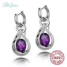 sted jewelry l zuan 925 sterling silver natrual 5 08ct amethyst purple quartz