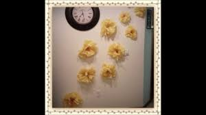 diy wall decor tissue paper flowers youtube
