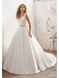 satin wedding dresses mori 8123 maribella satin gown with detailed back ivory