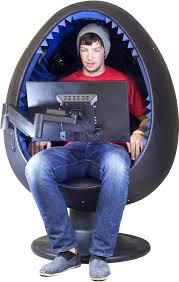 Surround Sound Gaming Chair White Sound Egg Chair Gray Foam