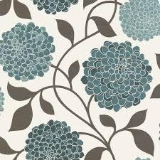 modern floral wallpaper designer selection bloom floral wallpaper teal cream brown