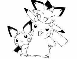 free printable pikachu coloring pages kids cute