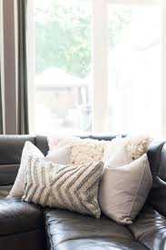 style pillows on couch pictures pillows on white leather couch
