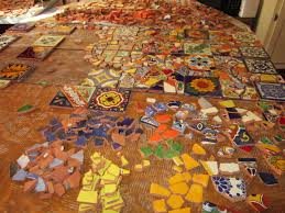 how to make a mosaic table top mosaic table top roamingartist s blog