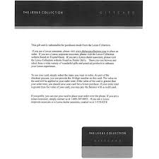 white lexus tab lexus 25 gift card