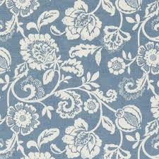 Blue Floral Curtains Made To Measure Curtains In Blue Chambray Blue Floral Curtains