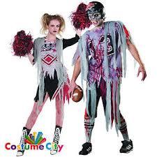 couples zombie american football cheerleader fancy dress halloween