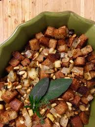 vegetarian thanksgiving stuffing herbed apple pine nut stuffing