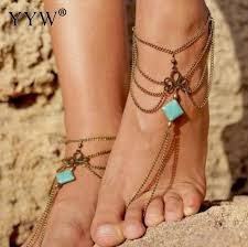 barefoot sandals wedding aliexpress buy yyw 1pc summer anklets bohemian ankle