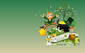 st patrick u0027s day leprechaun and pot of gold wallpaper and