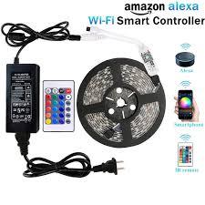 led strip lights remote wentop wifi wireless smart phone controlled led strip light kit