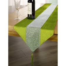 lime green table runner lime green table runner diamante studded modern 13 x 72 33cm x