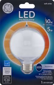 Led Night Light Bulb by Ge Led Dimmable G25 Soft White 40w Bulb 1 0 Ct Walmart Com