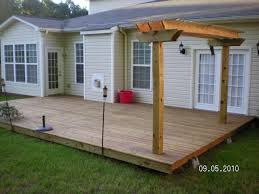 floating deck and pergola this one right against the house