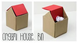 Bedroom Trash Cans For Girls Origami Trash Bin Tutorial Diy Paper Kawaii Youtube