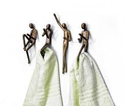 unique robe hooks antique brass unique towel hooks design with human replica ideas for